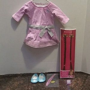 American Girl Lilac Dress and Accessories